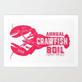 Crawfish Boil Art Print