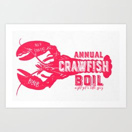 Crawfish Boil Art Print