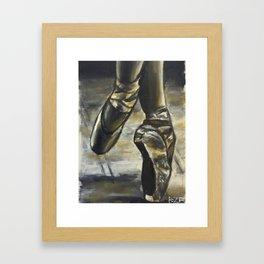 Ballerina Dusk Framed Art Print
