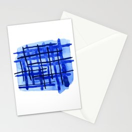 Blue Plaid Stationery Cards