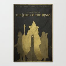 Shadows Shall Spring - The Lord of the Rings Poster Canvas Print