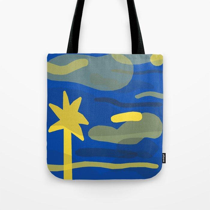Palm Fade (Blue) Tote Bag