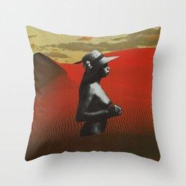 Desert Woman Throw Pillow