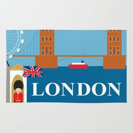 London, England - Collage Illustration by Loose Petals Rug