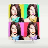 lana Shower Curtains featuring LANA POP  by Lovejonny