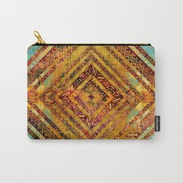 Tribal  Ethnic Boho Pattern Carry-All Pouch