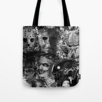 horror Tote Bags featuring Horror by Sinister Star