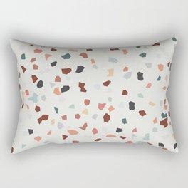 beige green brown terrazzo marble pattern  Rectangular Pillow