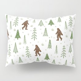 trees + yeti pattern in color Pillow Sham