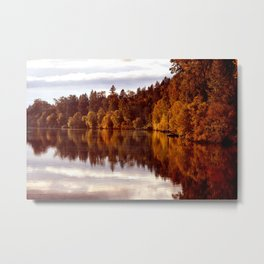 RADIANT AUTUMNAL REFLECTION Metal Print