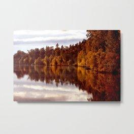 RADIANT AUTUMNAL REFLECTION Metal Print