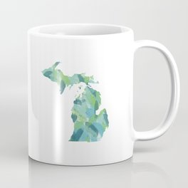 Painted Michigan, Abstract, Blue and Green Coffee Mug