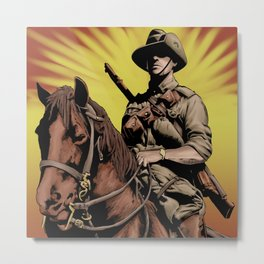 Australian Light Horse soldier Metal Print