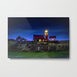 The Light Keeper's House Landscape by Jeanpaul Ferro Metal Print
