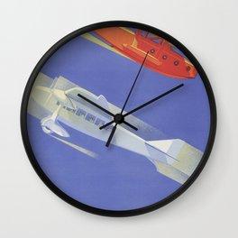 Royal Blue Wall Clock