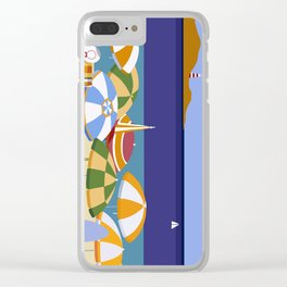 MORNING AT THE BEACH Clear iPhone Case