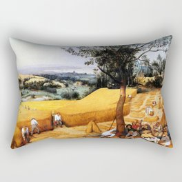 "Pieter Bruegel (also Brueghel or Breughel) the Elder ""The Harvesters"" Rectangular Pillow"