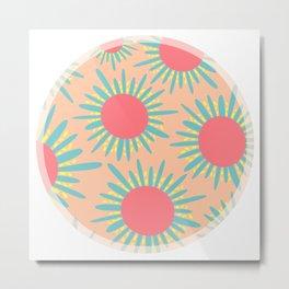 Kiwi Sun Print Metal Print