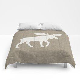 Moose Silhouette Comforters