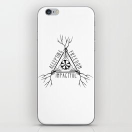 ACCEPTING - FREEDOM - IMPACTFUL iPhone Skin