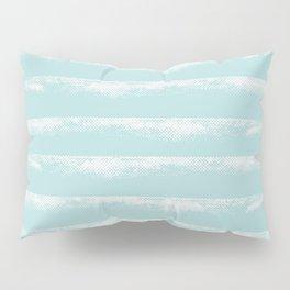 Irregular Stripes Mint Pillow Sham