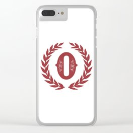 Rustic Red Monogram: Letter O Clear iPhone Case