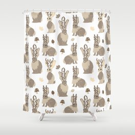 Jackalope Forest Shower Curtain