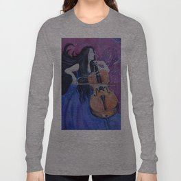 She was creating her living nightmares Long Sleeve T-shirt