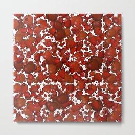 Red fruits pattern Metal Print