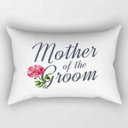 Elegant Mother of the Groom Floral Wedding Calligraphy Rectangular Pillow