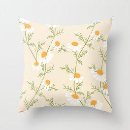 Chamomile Collection - Tea Time Throw Pillow