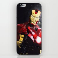 ironman iPhone & iPod Skins featuring Ironman by JLEEORIGINALS