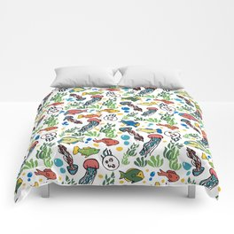 Colorful Ocean  Comforters