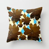 magnolia Throw Pillows featuring Magnolia  by Saundra Myles