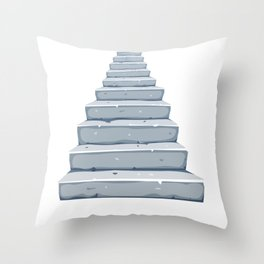 Stone Stairs To The Afterlife Throw Pillow