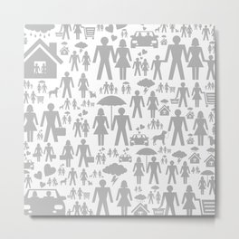 Family a background Metal Print