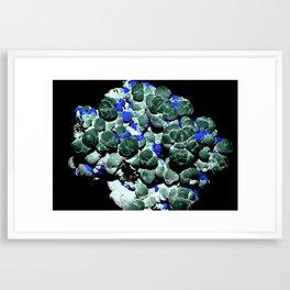 Malachite and Azurite Framed Art Print