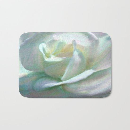 Painterly Iridescent Rose Bath Mat