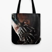 bane Tote Bags featuring Bane by Rav Chaggar