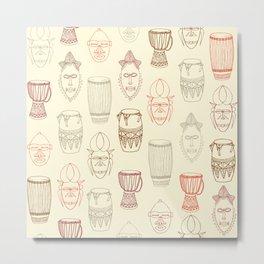 African drums and masks Metal Print