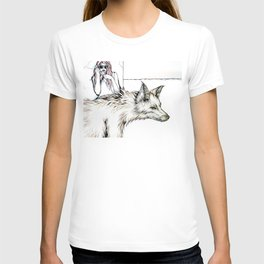 Mom, I Need A Ride... There's This Wolf... T-shirt