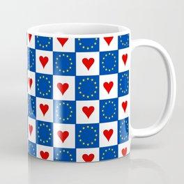 Flag of Europe 6  european, flag, european's flag, blue, star, yellow, EU, European union Coffee Mug
