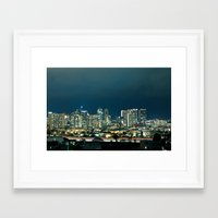 san diego Framed Art Prints featuring San Diego by Luke Gram