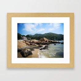 Silvermine Bay Beach Framed Art Print