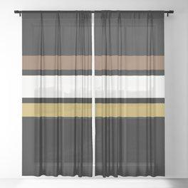 Team Colors 2... caramel, brown Sheer Curtain