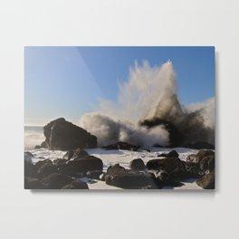 Booming Surf Metal Print