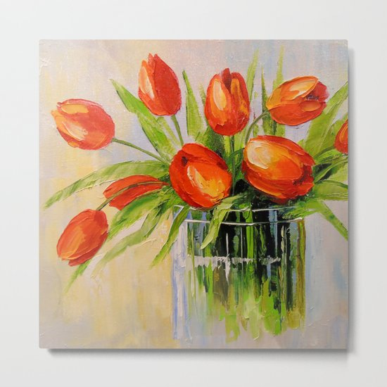 A bouquet of tulips Metal Print