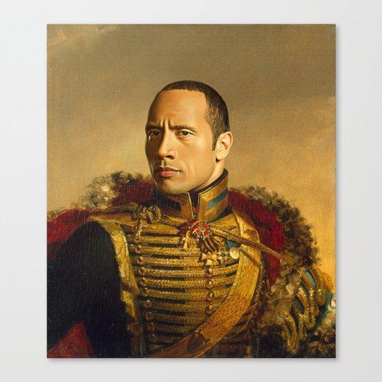 Dwayne (The Rock) Johnson - replaceface Canvas Print