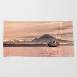 Morning Commute Beach Towel