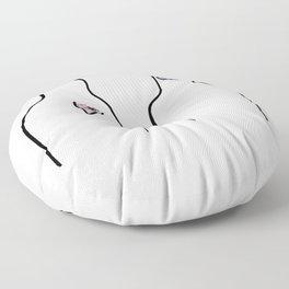 west coast heart Floor Pillow